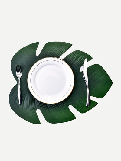 Palm Leaf Shaped Placemat 1pc