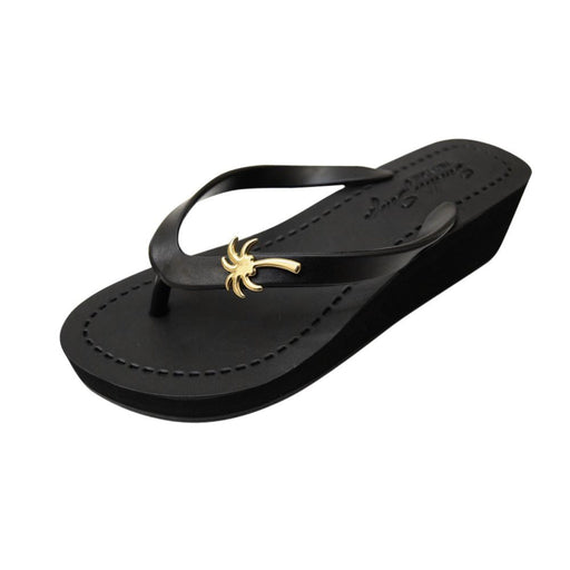 Gold Palm Tree - Women's Mid Wedge - Alluforu