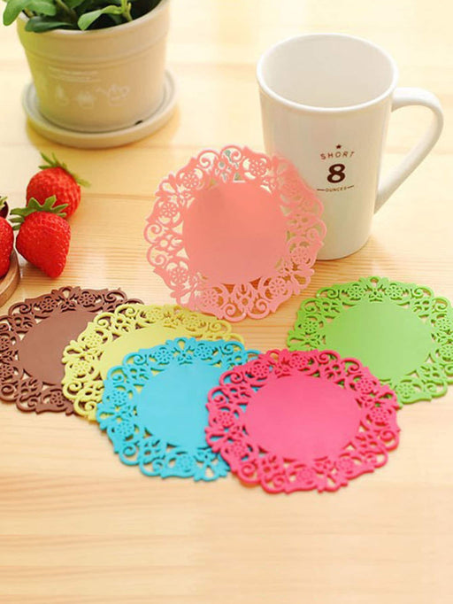 Lace Coaster 6pcs - Alluforu