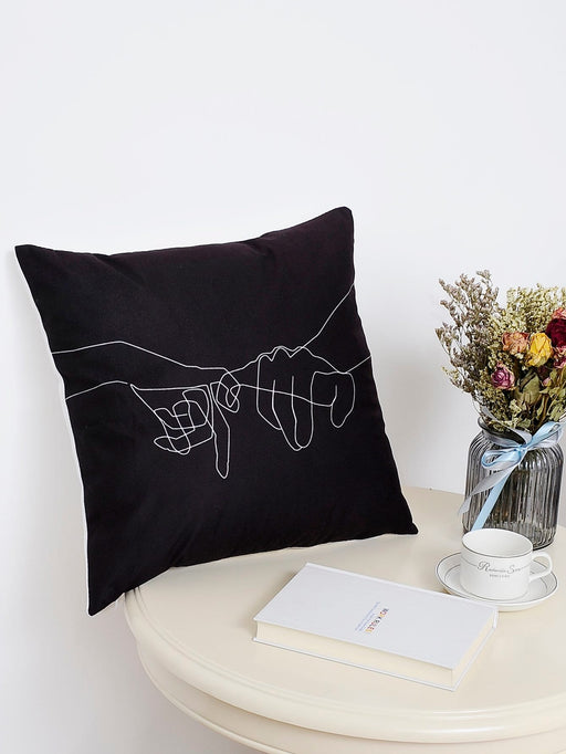 Abstract Hand Print Cushion Cover