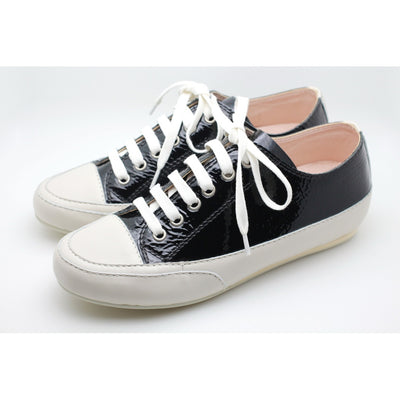 Patent Leather Sneaker (Black) - Alluforu