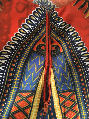 African Print Dashiki Dress - Alluforu