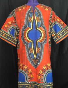 African Print Dashiki Short Dress
