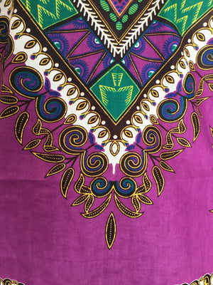 Casanova African Print Dashiki Top accent closeup