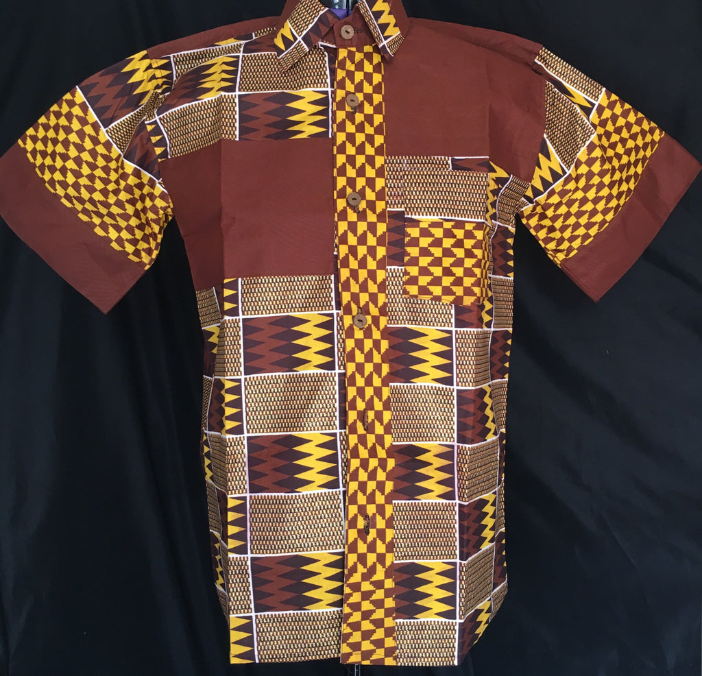 Mud Cloth African Print Button Up - Alluforu