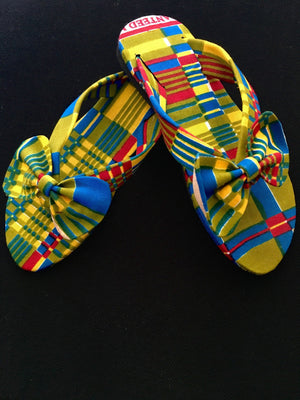 Green Bow Tie Sandals for Kids - Alluforu