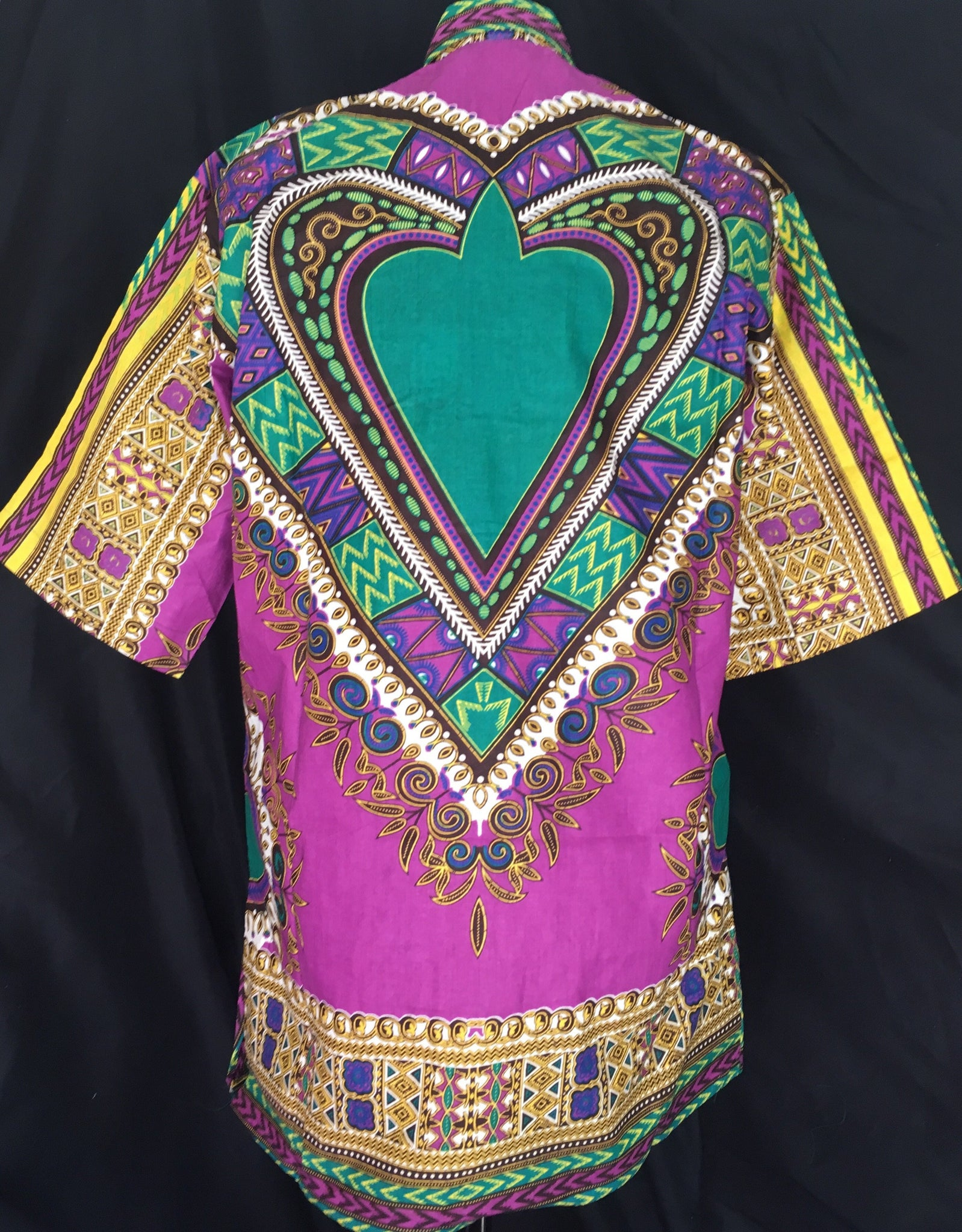 Casanova African Print Dashiki Top back view