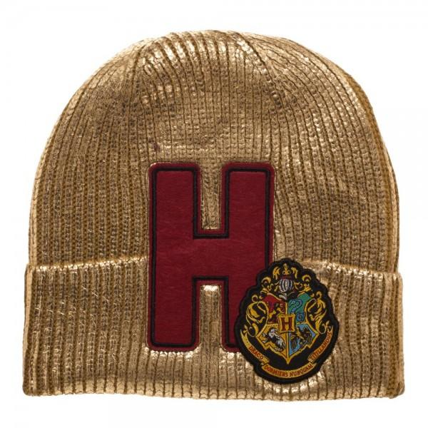 Harry Potter Hogwarts Metallic Acrylic Coated Beanie - Alluforu
