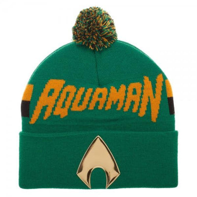 Aquaman Chrome Weld Knit Beanie - Alluforu