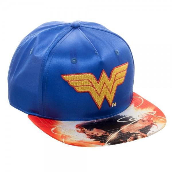 DC Comics Wonder Woman Satin Snapback Hat - Alluforu