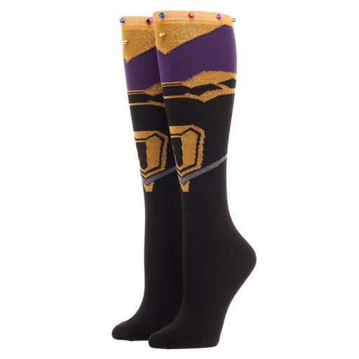 Avengers: Infinity War Infinity Gauntlet Inspired Knee High Socks - Alluforu