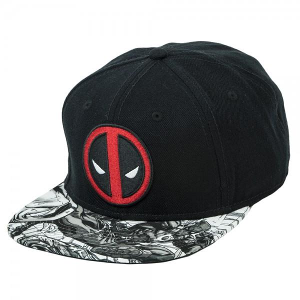 Marvel Deadpool Logo Sublimated Bill Snapback - Alluforu