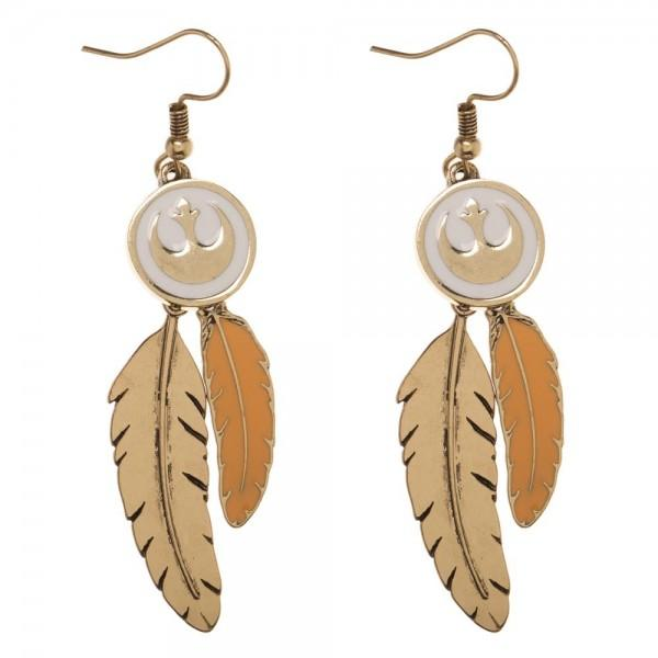 Star Wars Episode 8 Rebel Porg Feather Earrings - Alluforu
