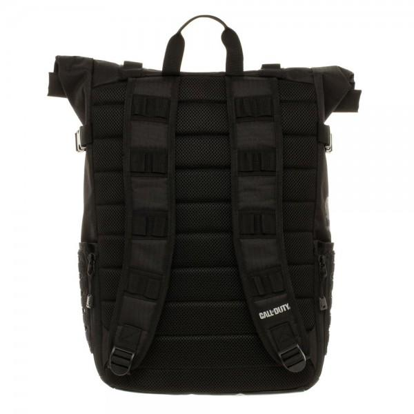 Call of Duty Black Military Roll Top Backpack with Laser Cuts - Alluforu