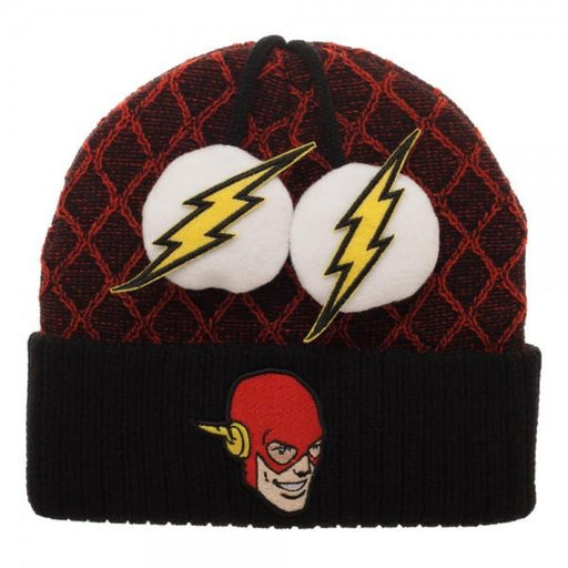 Flash Lightning Bolt Pom Beanie - Alluforu