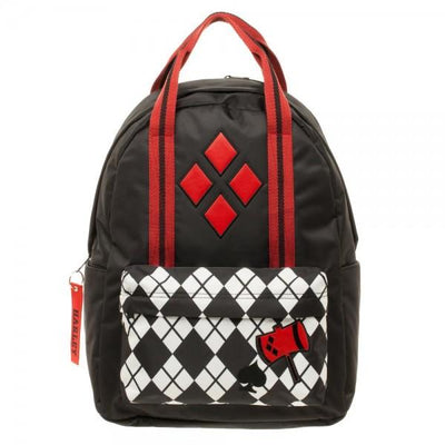 DC Comics Harley Quinn Pocket Top Handle Backpack - Alluforu
