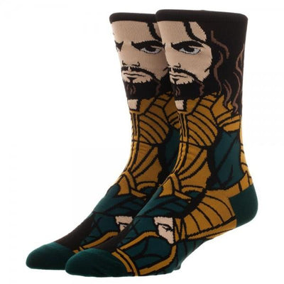 Justice League Aquaman 360 Character Crew Socks - Alluforu