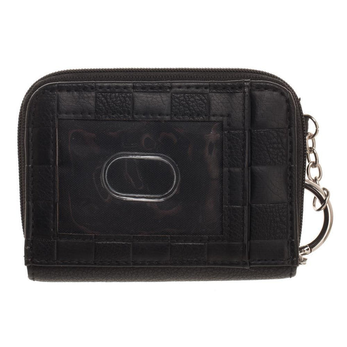 Ready Player One PU Faux Leather with Patches Mini Zip Around Wallet - Alluforu