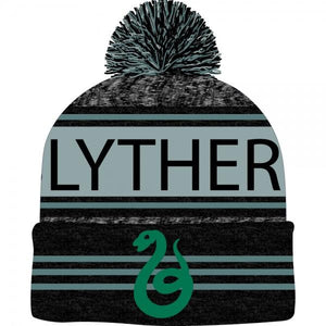 Harry Potter Black Green Teal Marled Pom Beanie - Alluforu