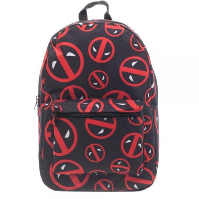 Marvel Deadpool Logo Print Backpack - Alluforu