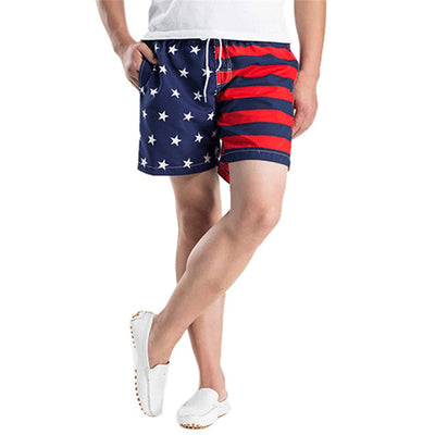 American Flag Print Board Shorts