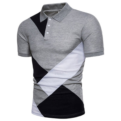 Slim Fit Turndown Collar Button Tee