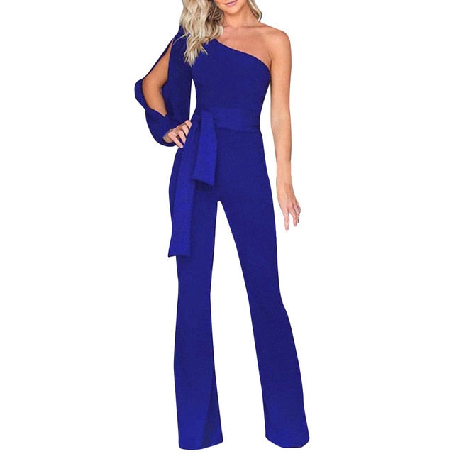 Elegant Wide Leg Off Shoulder Jumpsuit