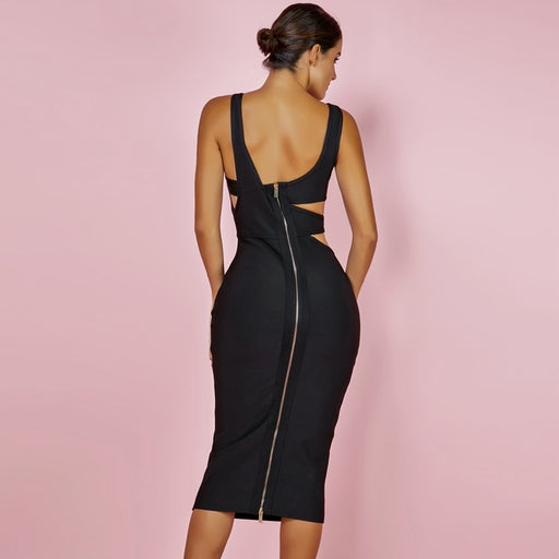 Pencil Cut Out Midi Bodycon Dress