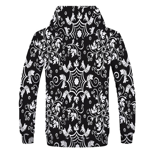 Spider Web Flower Print Sweatshirt
