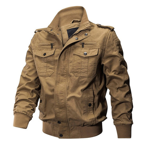 Cotton Bomber Pilot Jacket - Alluforu