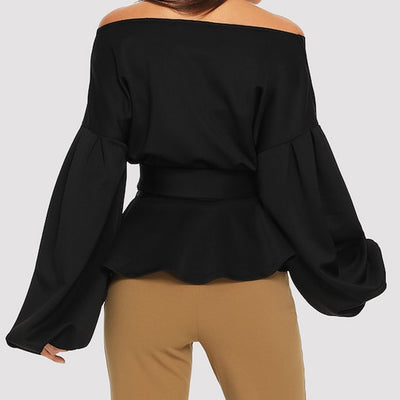 Long Sleeve Sashed Blouse