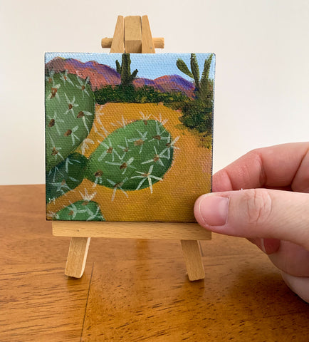 Arizona Desert Landscape  - 3x3 Tiny Art - april bern photography
