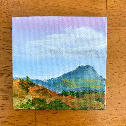 Taos New Mexico Landscape  - 3x3 Tiny Art