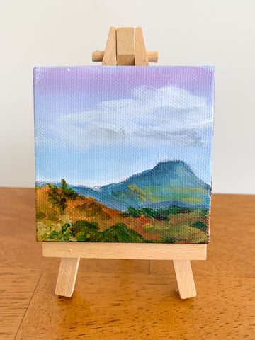 Taos New Mexico Landscape  - 3x3 Tiny Art - april bern photography