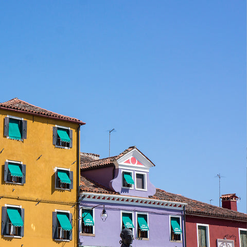 Travel Photography, Burano Buildings Fine Art Photography