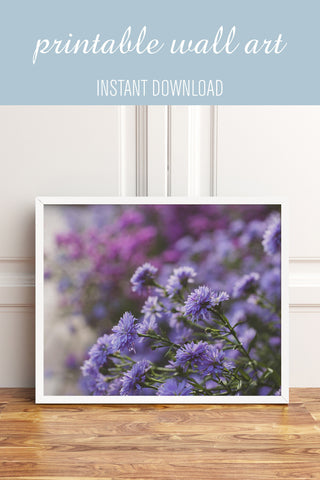 Digital Download - Purple Floral Dreams