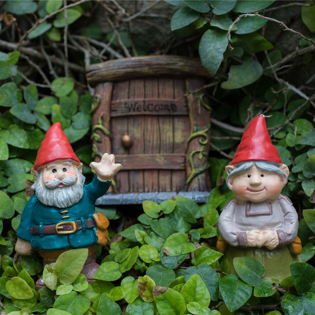 Welcome Gnome Garden Gnome Art Print