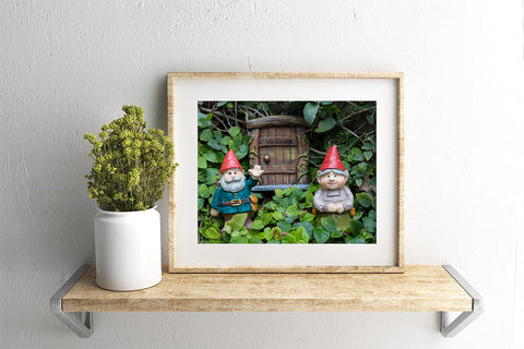 Whimsical Art - Garden Gnome Print