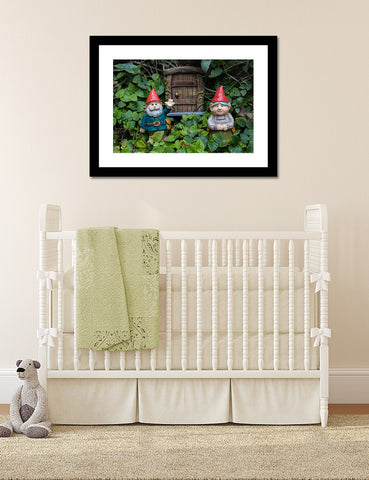 Welcome Gnome Garden Gnome Fine Art Print