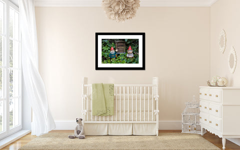 Garde Gnome Print is perfect for your nursery, kids room, or for gnome lovers