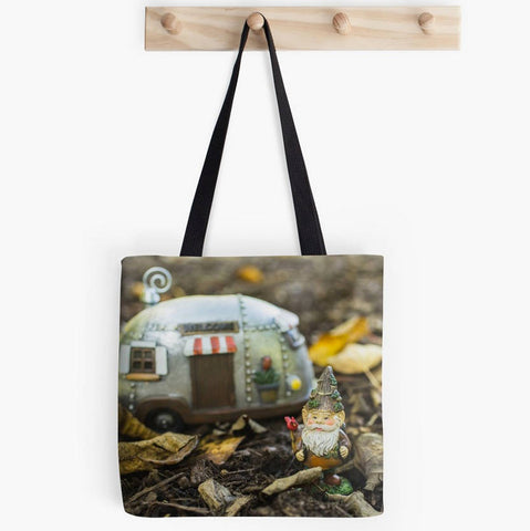 Ready to Ship - 13x13 Adventure Gnome Canvas Tote Bag