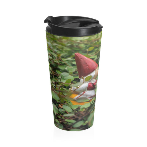Kissing Gnome Stainless Steel Travel Mug - april bern art & photography