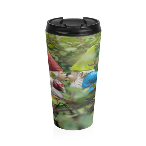 Kissing Gnome Stainless Steel Travel Mug - april bern photography