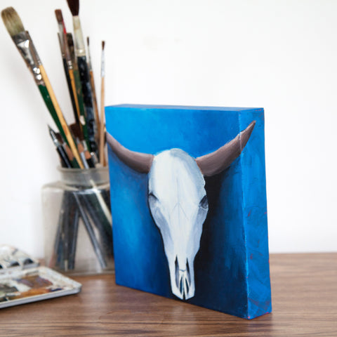 Southwest Cow Skull Painting