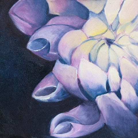 "Dahlia Oil Painting - Flower Painting 8""x8"""