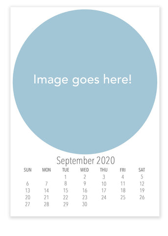2020 Desk Calendar Template- Instant Download - april bern art & photography