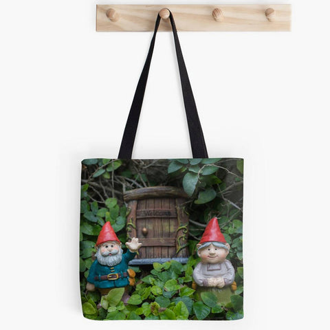 Ready to Ship - 16x16 Welcome Gnome Canvas Tote Bag