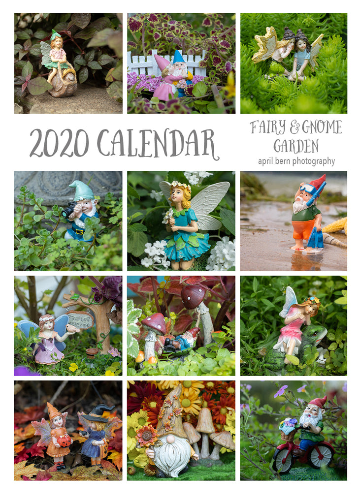 2020 Fairy & Gnome Garden 5x7 Desk Calendar - april bern photography