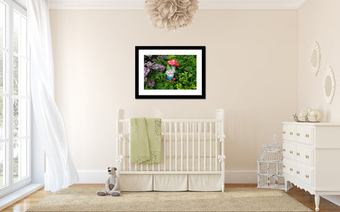Garden Gnome Photo, Gnome Art, Gnome Photo, Gnome Photography, Whimsical Art, Nursery Art, Kids Room Art, Fairy Garden Photography