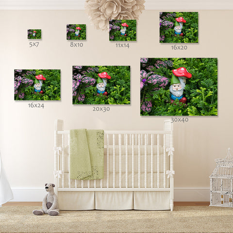 Garden Gnome Art print is available in a varity of sizes for your home